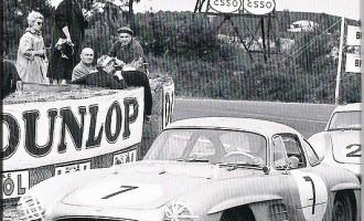 Participando en Le Mans con el Mercedes 300 Metternich