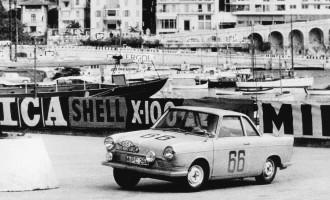 Pablo Alfonso al volante del BMW 700, Rally de Montecarlo 1961