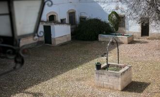 El patio de la casa de Zacatena